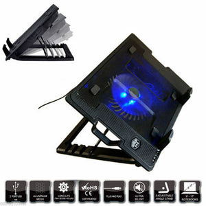 Notebook Laptop Cooling Pad Cooler Fan Stand w/ USB Hub