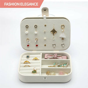 Portable Jewellery‎ Box & Storage Ring Organiser Leather Case Holder