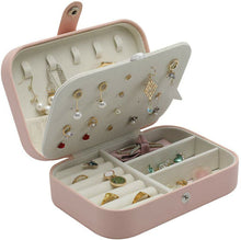 Load image into Gallery viewer, Portable Jewellery‎ Box & Storage Ring Organiser Leather Case Holder