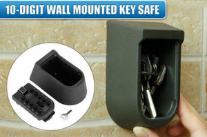 Outdoor Combination Key Safe Box Holder Wall Mounted Weather Resistant
