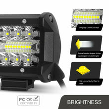 "Load image into Gallery viewer, Pair 200W 4"" inch Work Lights CREE Spot Flood LED Light Bar Reverse 4WD 12V 24V"