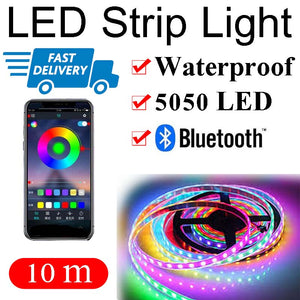 10M Bluetooth LED Color Changing Waterproof Music USB RGB Strip Light