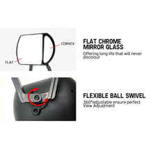 Load image into Gallery viewer, 2x Towing Mirrors Pair Clip on Multi Fit Clamp On Towing Caravan 4X4 Trailer