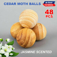 Load image into Gallery viewer, 48Pcs Cedar Moth Balls Jasmine Scented repellent Clothes Insects Natural Wood