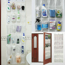 Load image into Gallery viewer, 24 Pocket Shoe Holder Bag Organiser Over Door Hanging Shelf Rack Storage Hook