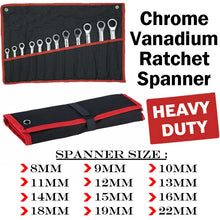 Load image into Gallery viewer, 12Pcs 8MM-22MM Ratchet Spanner Set & Rolling Bag Hand Tool Kit
