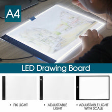 Load image into Gallery viewer, A4 LED Light Box Tracing Drawing Board Art Design Pad Light box Adjustable Light