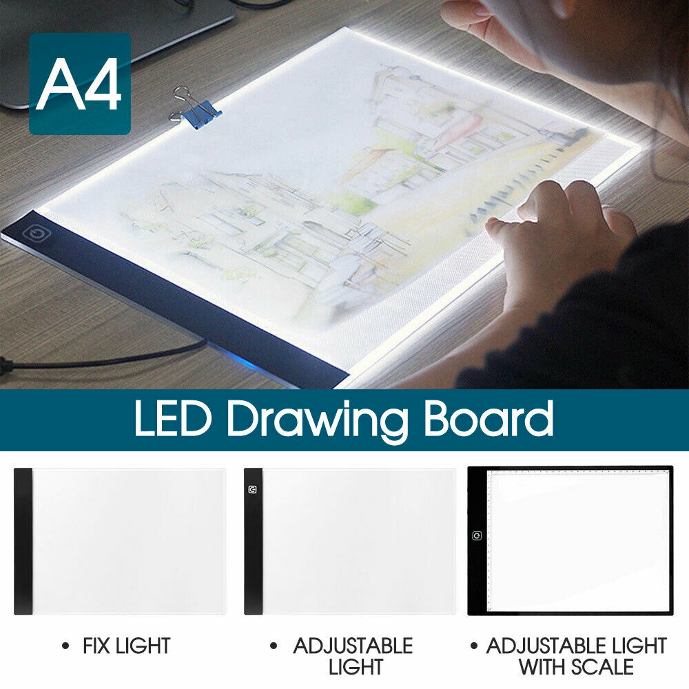 A4 LED Light Box Tracing Drawing Board Art Design Pad Light box Adjustable Light