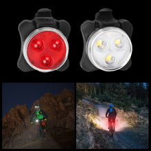 Load image into Gallery viewer, 2pcs Waterproof Bicycle Bike Light Safety USB Rechargeable Front & Rear LED Lamp