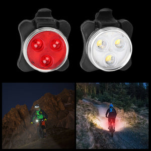 2pcs Waterproof Bicycle Bike Light Safety USB Rechargeable Front & Rear LED Lamp