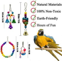 Load image into Gallery viewer, 10PCS Parrot Hanging Swing Bird Toy Harness Cage Ladder Parakeet Cockatiel Budgie