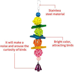 10PCS Parrot Hanging Swing Bird Toy Harness Cage Ladder Parakeet Cockatiel Budgie