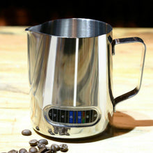 Load image into Gallery viewer, 600ml Stainless Steel Thermometer Milk Pitcher Jug