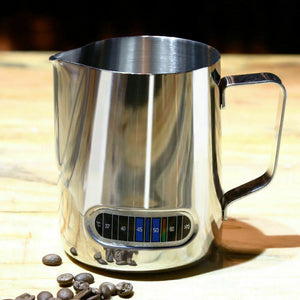 600ml Stainless Steel Thermometer Milk Pitcher Jug