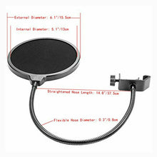 Load image into Gallery viewer, Microphone Stand Suspension Boom Arm Mic Holder Mount Pop Filter