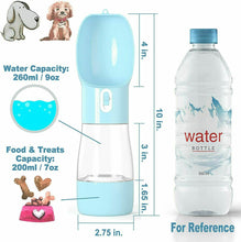 Load image into Gallery viewer, 2 in 1 Pet Water & Food Portable Feeder Bottle