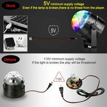 Load image into Gallery viewer, Disco Ball DJ Party Light Effect Strobe Remote Auto Sound Activated
