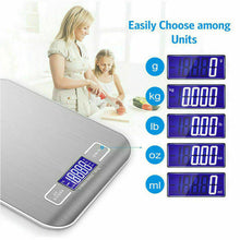Load image into Gallery viewer, LCD Stainless Electronic Digital Scale