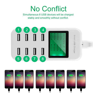 8 Port Smart AC USB Wall Charger