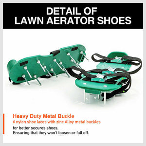 Garden Lawn Aerator Spike Spiked Shoes 1 Pair
