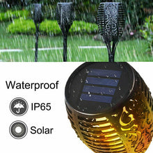Load image into Gallery viewer, 4X LED Solar Flickering Torch Path Light