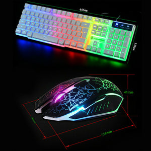 Ergonomic T6 Gaming Keyboard and Mouse Set