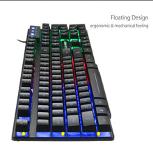 Load image into Gallery viewer, Ergonomic T6 Gaming Keyboard and Mouse Set