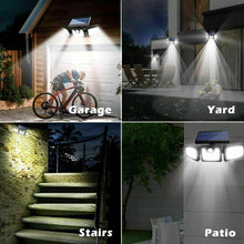 Load image into Gallery viewer, 3 Head Solar Motion Sensor Light Outdoor
