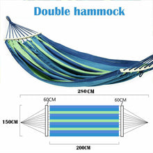 Load image into Gallery viewer, Double Hanging Hammock Outdoor Garden Camping