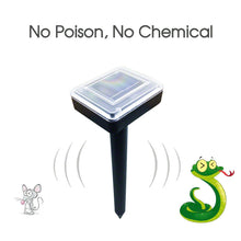 Load image into Gallery viewer, Solar Powered Snake Repeller Ultrasonic Pest Rodent Repellent