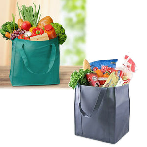 3x Reusable Folding Supermarket Shopping Grocery Bags