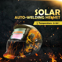 Load image into Gallery viewer, Pro Solar Auto Darkening Welding Helmet Arc Tig Skull Mask
