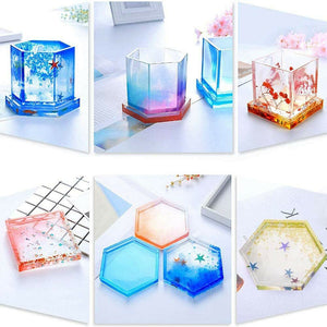 3X Multi Silicone Mold Coaster Making DIY Polymer Clay Resin Casting Craft Mould