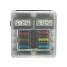 Load image into Gallery viewer, 23PC 6 Way Blade Fuse Box Block Holder LED Indicator Light 12V/32V