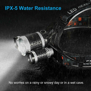 100000LM RECHARGEABLE HEADLAMP 3T6 XML LED HEADLIGHT