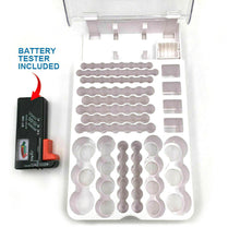 Load image into Gallery viewer, Battery Storage Organizer Holder with Tester - Battery Caddy Rack Case Box