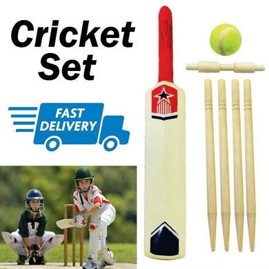Cricket Set Size 5 with Wickets and Tennis Ball Game Sport 6pc