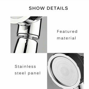 3 In 1 High Pressure Showerhead Handheld Massage Shower Head