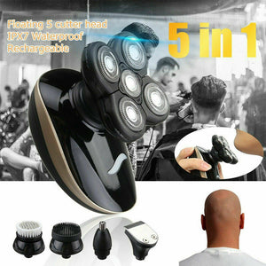 5 In1 4D Rechargeable Electric Razor Shaver Waterproof Cordless Trimmer Bald Head