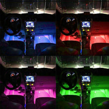 Load image into Gallery viewer, 4X 12V 9LED RGB Car Interior LED Strip Lights