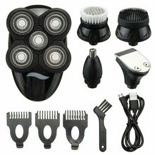 Load image into Gallery viewer, 5 In1 4D Rechargeable Electric Razor Shaver Waterproof Cordless Trimmer Bald Head