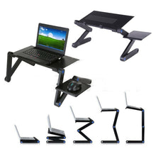 Load image into Gallery viewer, Portable Foldable Laptop Desk Computer Table Tray Adjustable Sofa Bed Mouse Pad