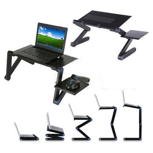 Portable Foldable Laptop Desk Computer Table Tray Adjustable Sofa Bed Mouse Pad