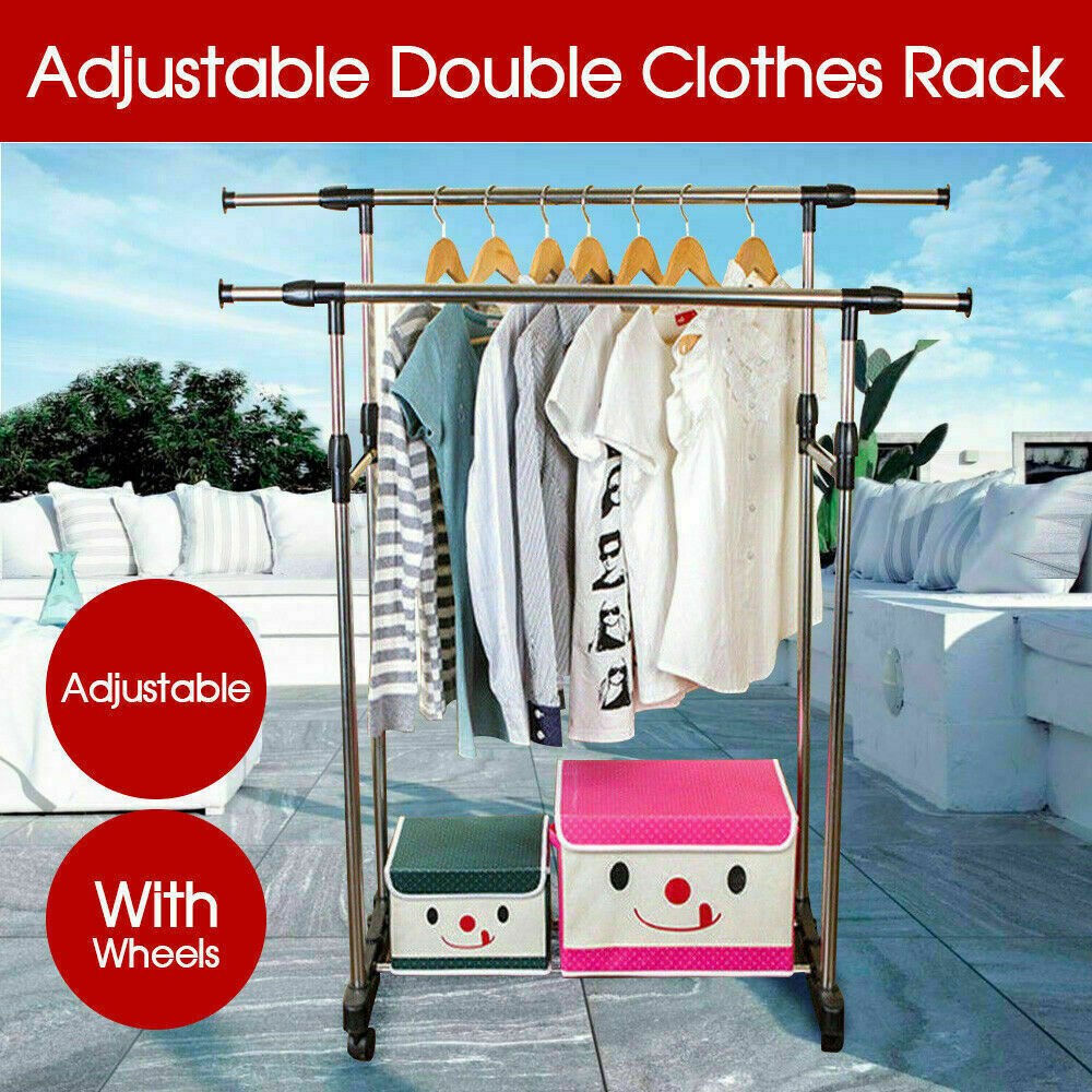 Double Clothes Stainless Shelf Hanger
