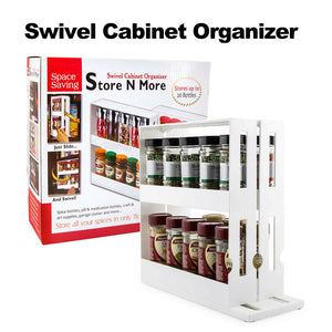 Swivel Cabinet Spice Rack Holder Organiser
