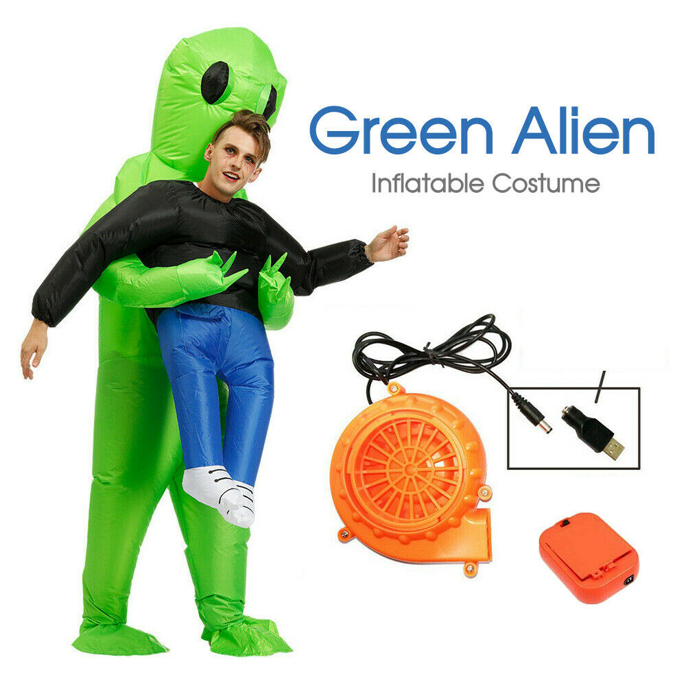Scary Halloween Green Alien Inflatable Costume