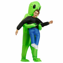 Load image into Gallery viewer, Scary Halloween Green Alien Inflatable Costume