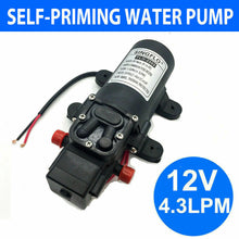 Load image into Gallery viewer, 12V 4.3Lpm Self-Priming Water Pump High-Pressure Caravan Camping Boat