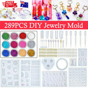 289X Jewelry Mould Handmade Crystal Glue Making Set Resin Silicone DIY Mold Kit