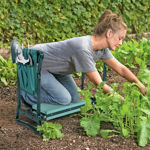 2 in1 Foldable Garden Seat Kneeler with 2 pouch 6 Tools